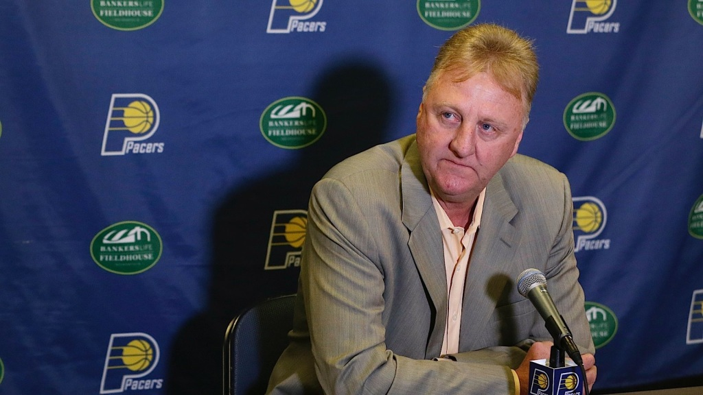 Larry Bird has a lot to do if he wants to be a player in 2015 free agency. Photo via Fox Sports.