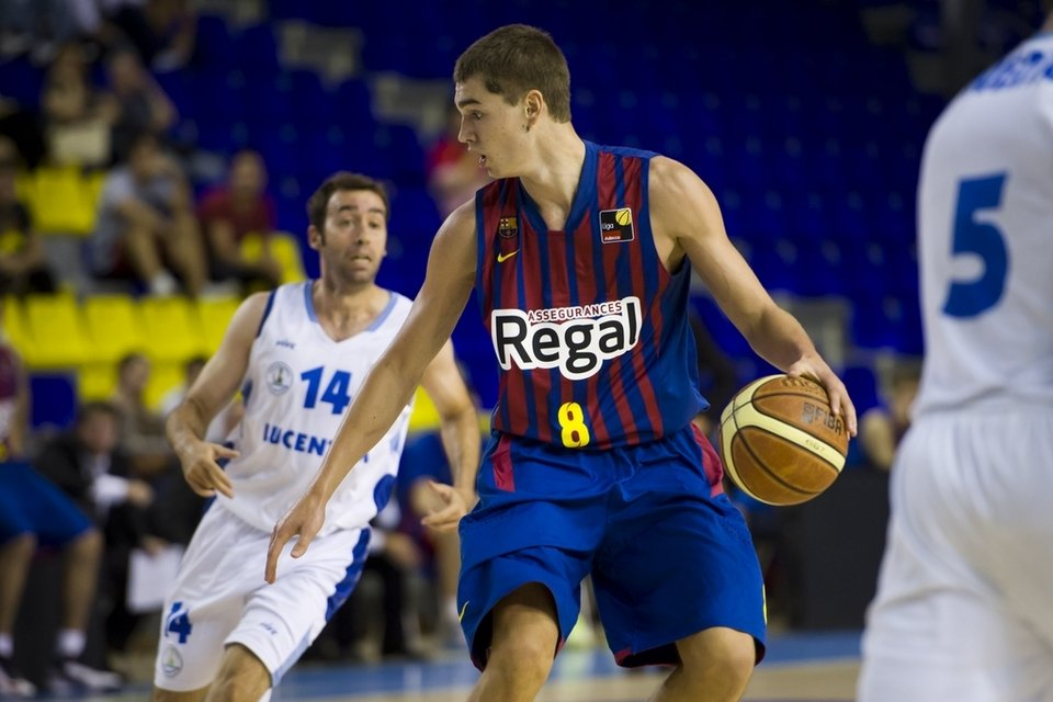 Mario Hezonja, Projected top 10 pick in this year's NBA draft, plays for Barcelona FC of the Euroleague. Photo via www.mundodeportivo.com