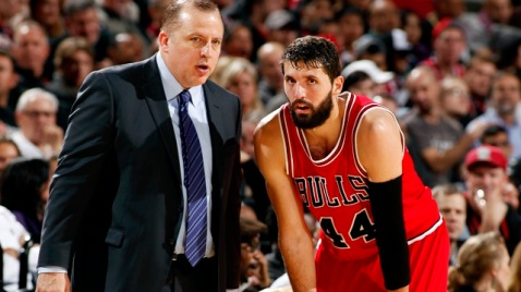 Nikola Mirotic, Chicago Bulls Power Forward, is a Montonegrin national who spent time in the Euroleague with Barcelona FC. Photo via www.rantsports.com