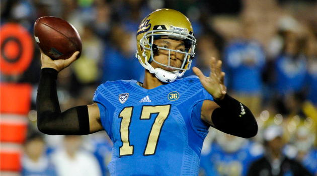 Brett Hundley leads the unspectacular group of quarterbacks after Heissman winners Winston and Mariota. photo via gcobb.com