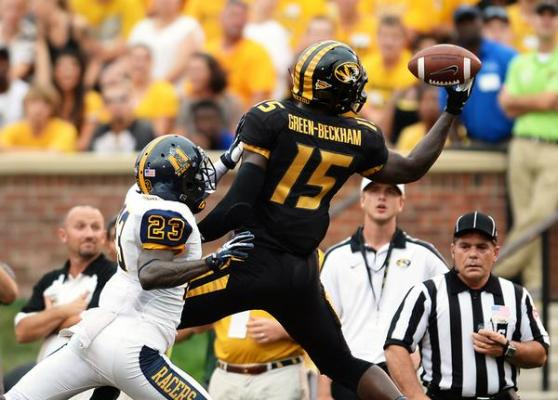 Dorail Green-Beckham is an incredible receiver, but off-field issues have caused his stock to plummet. photo via www.nepatriotsdraft.com