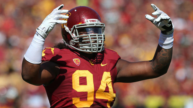 Leonard Williams is the projected number 2 pick in this years draft by many analysts photo via www.latimes.com