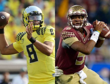 Marcus Mariota (left) and Jameis Winston (right) via www.tampabay.com